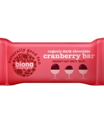 Cokoladna plocica tamna cokolada brusnica - bio, vegan, 40g, Biona, Soulfood internet trgovina