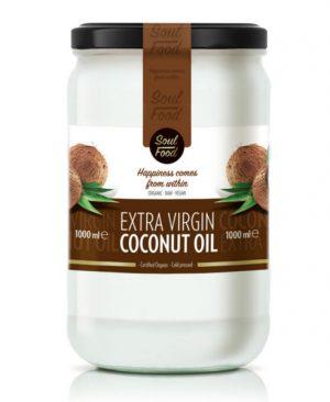 Kokosovo ulje ekstra djevičansko 1000ml: bio, organski, hladno prešano, soul food internet trgovina