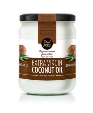 Kokosovo ulje ekstra djevičansko 500ml: bio, organski, hladno prešano, soul food internet trgovina