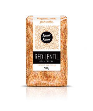 Leća crvena 500g: bio, organski, veganski, soul food internet trgovina