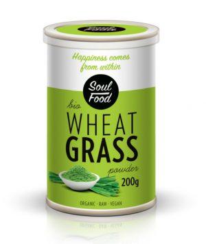 Pšenična trava 200g: bio, organski, sirovo, veganski, soul food internet trgovina
