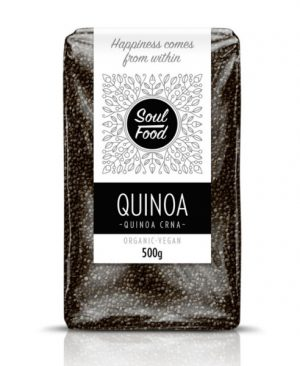 Quinoa crna 500g: bio, organski, veganski, soul food internet trgovina