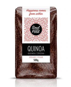 Quinoa crvena 500g: bio, organski, veganski, soul food internet trgovina