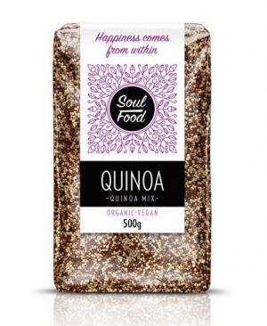 Quinoa mix 500g: bio, oreganski, veganski, soul food internet trgovina
