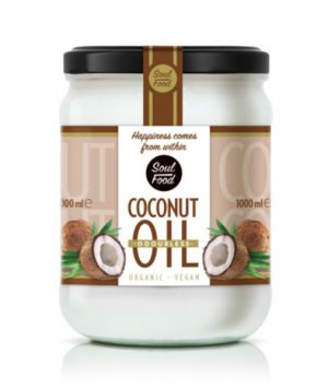 Kokosovo ulje bez mirisa, bio, vegan, 1000ml, soul food internet trgovina