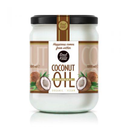 Kokosovo ulje bez mirisa, bio, vegan, 1000ml, Soulfood internet trgovina