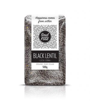 Leća crna beluga 500g: bio, organski, veganski, sirovo, soul food internet trgovina