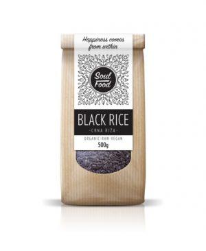 Riža crna 500g: bio, organski, sirovo, veganski, soul food internet trgovina