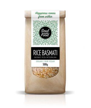 Basmati integralna riža 500g: bio, raw, vegan, riža, soul food internet trgovina