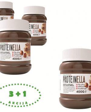proteinella 400g 3+1gratis: proteini, kakao, lješnjak, energija, sport, namaz, soulfood internet trgovina