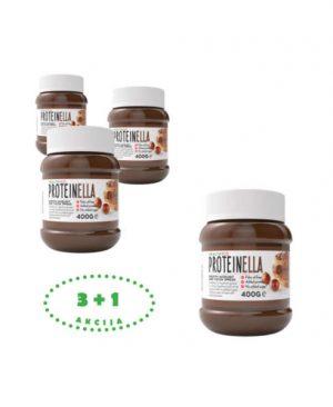 Proteinella 400g paket 3+1: proteini, sport, energija, lješnjak, kakao, namaz, soulfood internet trgovina