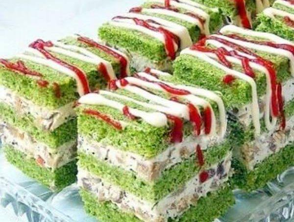 Zelene kocke sa špinatom i gljivama, soul food internet trgovina