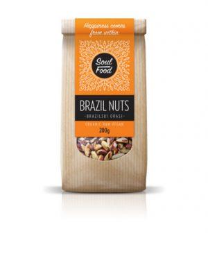 Brazilski orasi Bio 200g: bio, oraganski, antioksidansi, selen, soul food internet trgovina