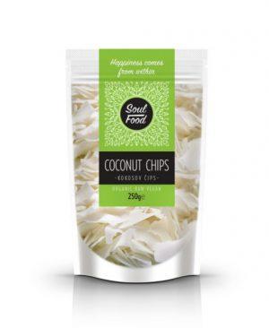 Kokosov čips 250g: bio, veganski, sirovo, soul food internet trgovina