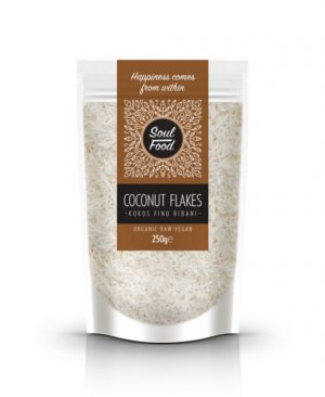 Kokos fino ribani 250g: bio, organski, veganski, sirovo, soul food internet trgovina