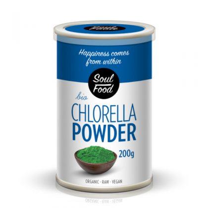 Chlorella u prahu 200g: bio, organski, sirovo, veganski, soul food internet trgovine