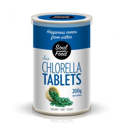 Chlorella tablete 200g: bio organski, veganski, sirovo, soul food internet trgovina