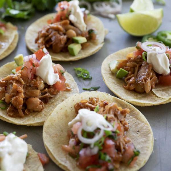 ljuti jackfruit tacos s pico salsom, soul food internet trgovina