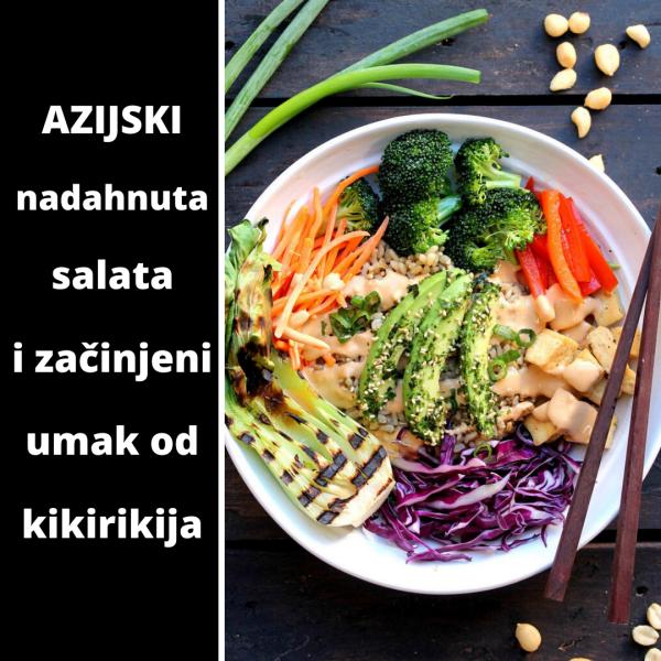 azijski nadahnuta salata i začinjeni umak od kikirikija, soul food internet trgovina