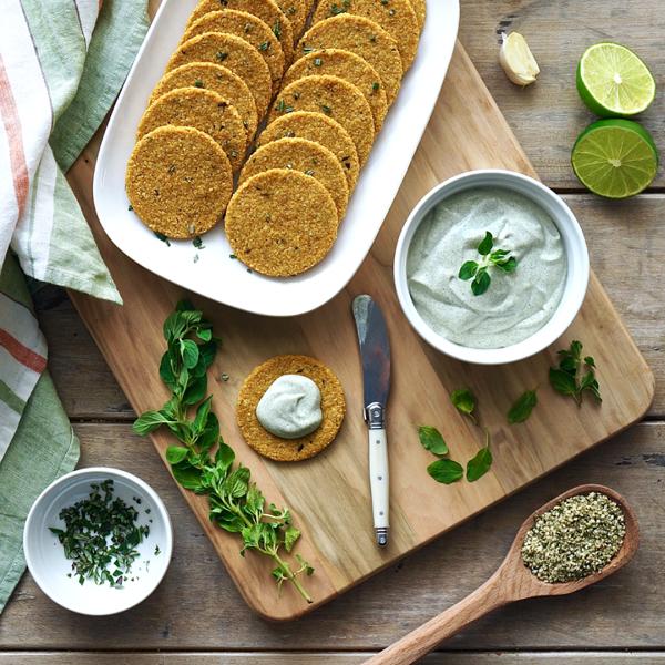 konopljini krekeri s umakom od origana, soul food internet trgovina