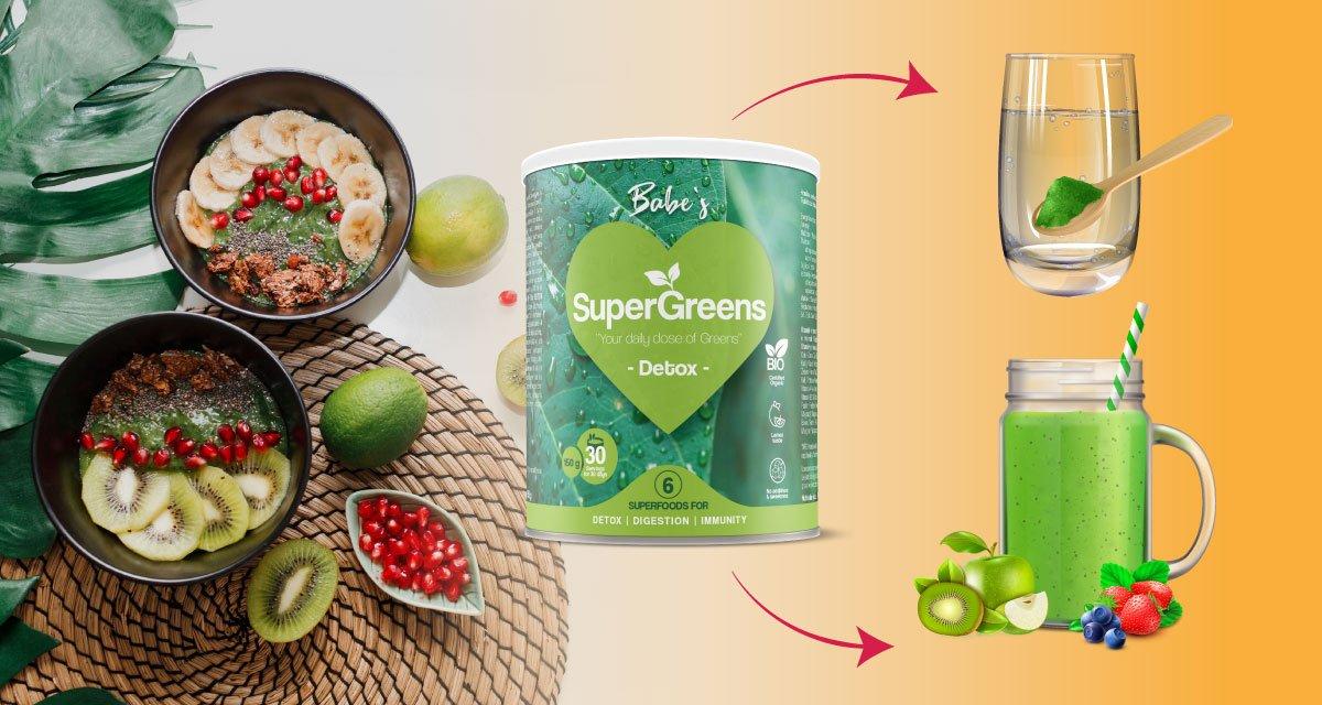 BABE'S SuperGreens DETOX upotreba, soul food internet trgovina